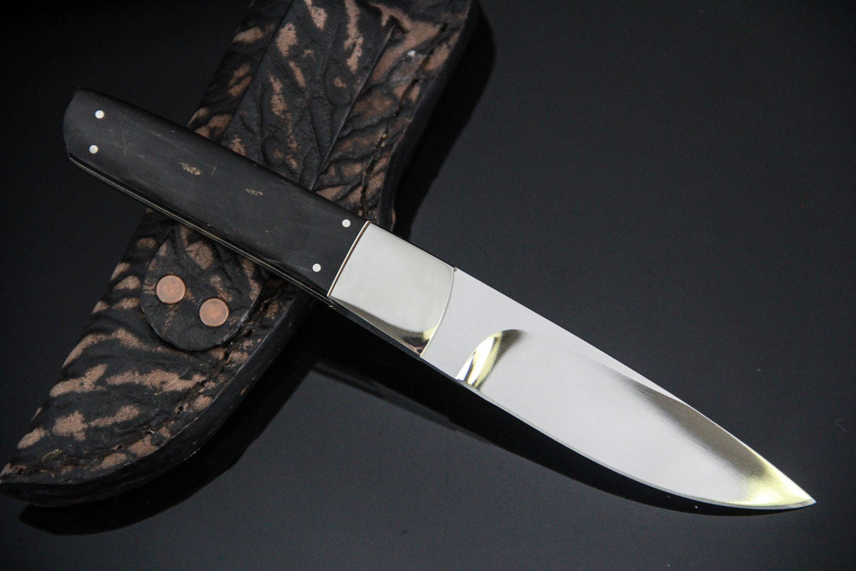 George Muller Small Fixed Blade - Buffalo Horn