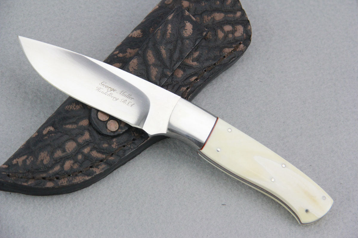 George Muller Small Fixed Blade - Warthog Ivory