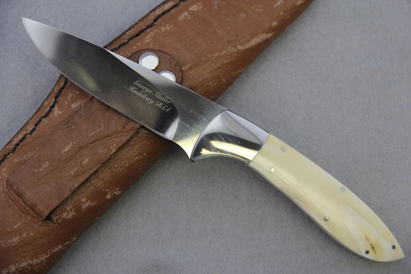 George Muller Fixed Blade - Warthog Ivory