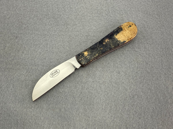 Tinus Stone Biltong Slipjoint Triple Dyed Maple Burl