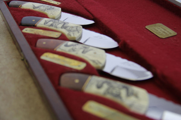 "Mackrill Custom Knife Set - ""The Grand Slam"" #2 Limited Edition"
