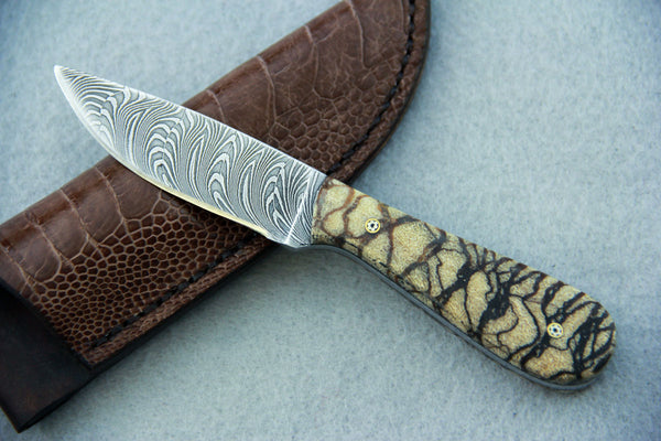 Sam Hawkins Quill Feather Damascus Small EDC
