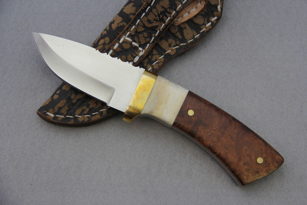 Mackrill Fixed Blade - Giraffe Bone and Maple Burl