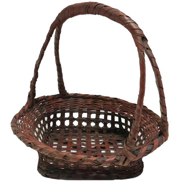 Vintage American wicker gathering basket (c 1920s) - Selective Salvage