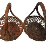 Pair of vintage American wicker gathering baskets (c 1930s) - Selective Salvage