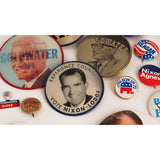 23 vintage political campaign buttons - Eisenhower, Nixon, Goldwater, Reagan - 60's & 70's - Selective Salvage