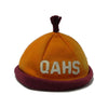Antique child's felt beanie, QAHS believed to be Queen Anne High School, Seattle  (c 1910s) - Selective Salvage