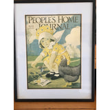 "Vintage ""People's Home Journal"" cover, professionally framed (c 1925) - Selective Salvage"