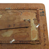 "Antique Folk art wood burned frame, signed ""Gertrude Klein"", 1911 - Selective Salvage"