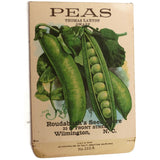 Antique Galloway peas and squash seed packets, unused, from NC seed store (c 1918) - Selective Salvage