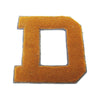 "Vintage gold chenille athletic letter ""D"", dated 1928 - Selective Salvage"