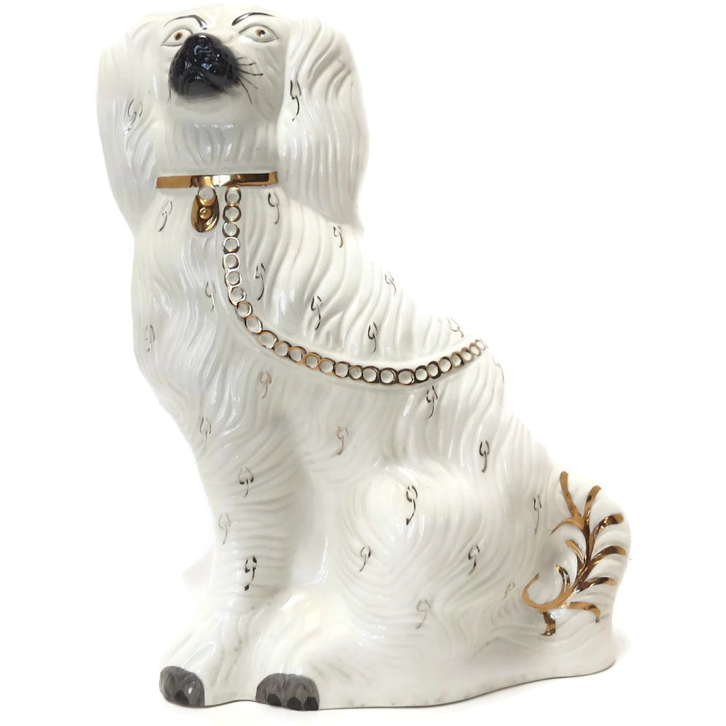 "Vintage Beswick 1378-1 Staffordshire Spaniel figurine, 13"", marked (c 1950s) - Selective Salvage"