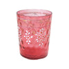 Antique Victorian pink glass tumbler, hand painted, deep rosy pink (c 1900s) - Selective Salvage