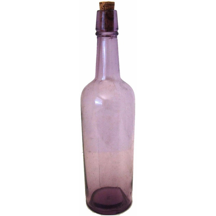 Antique whiskey bottle, purpled by the sun (c 1900s) - Selective Salvage
