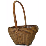 Vintage American gathering basket, handled (c 1900s) - Selective Salvage
