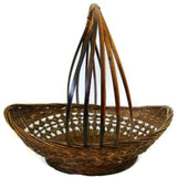 Vintage country gathering basket, American (c 1920s)