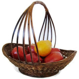 Vintage country gathering basket, American (c 1920s) - Selective Salvage