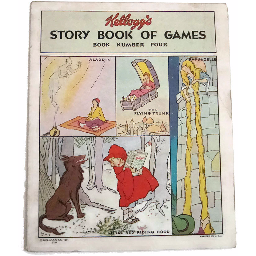 "Vintage ""Kellogg's Story Book of Games #4"", unused (c 1931) - Selective Salvage"