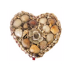Vintage heart shaped shell jewelry box (c 1950s) - Selective Salvage