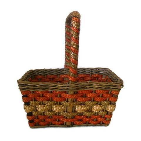 Antique NY country store advertising basket (c 1900s) - Selective Salvage
