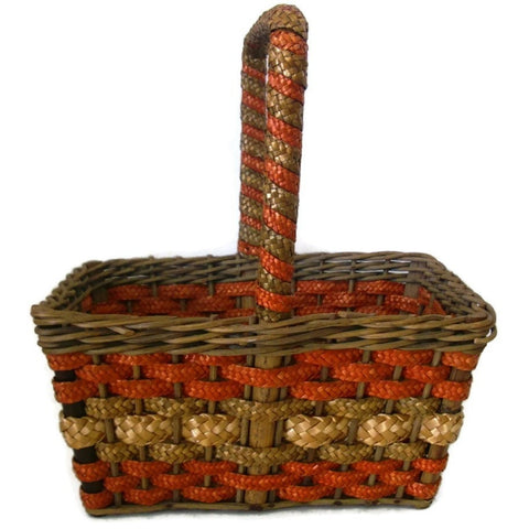 Antique NY country store advertising basket (c 1900s)