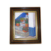 Antique layered wooden frame with gilt paint (c early 1900s) - Selective Salvage