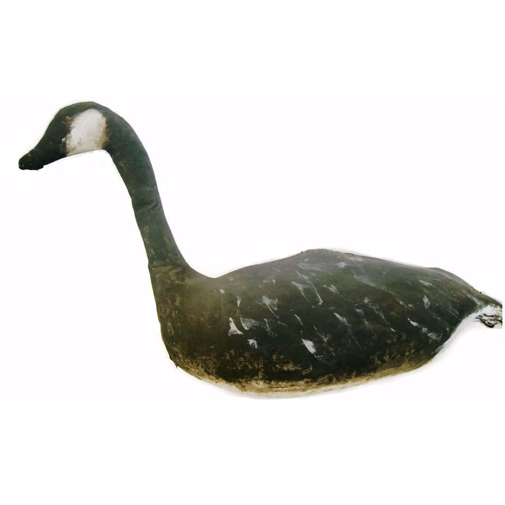 Vintage canvas goose decoy, original paint (c 1941) - Selective Salvage