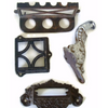 Vintage architectural salvage, hardware pulls & hooks (c 1920s) - Selective Salvage
