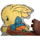 Vintage lithographed Easter toy, NN Hill Brass Co (c 1943) - Selective Salvage