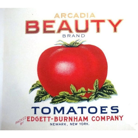 Vintage ephemera, two Arcadia Beauty can labels, unused (c 1920s) - Selective Salvage