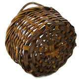 Vintage wicker gathering basket, American, hand woven (c 1920s) - Selective Salvage