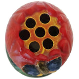 Ceramic tomato shaped flower frog (c 1920s) - Selective Salvage
