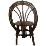 Antique Adirondack style willow childs chair (c 1900s)