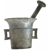 Vintage mortar and pestle, aluminum (c 1940s) - Selective Salvage