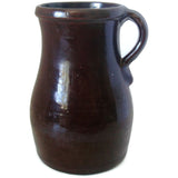Antique Albany slip glaze pitcher (c late 1800s) - Selective Salvage