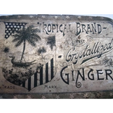 "Vintage candy tin, ""Tropical Brand"" Ginger (c 1920's) - Selective Salvage"