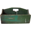 "Vintage wooden tool carrier, marked ""OF Moore"" (c 1920s) - Selective Salvage"
