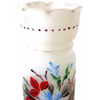 Vintage hand painted glass vase, floral design (c 1920s) - Selective Salvage
