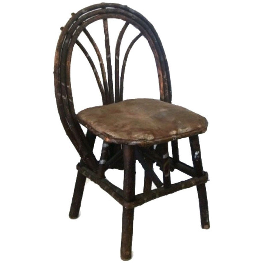 Antique willow child's chair, Adirondack style  (c 1900s) - Selective Salvage