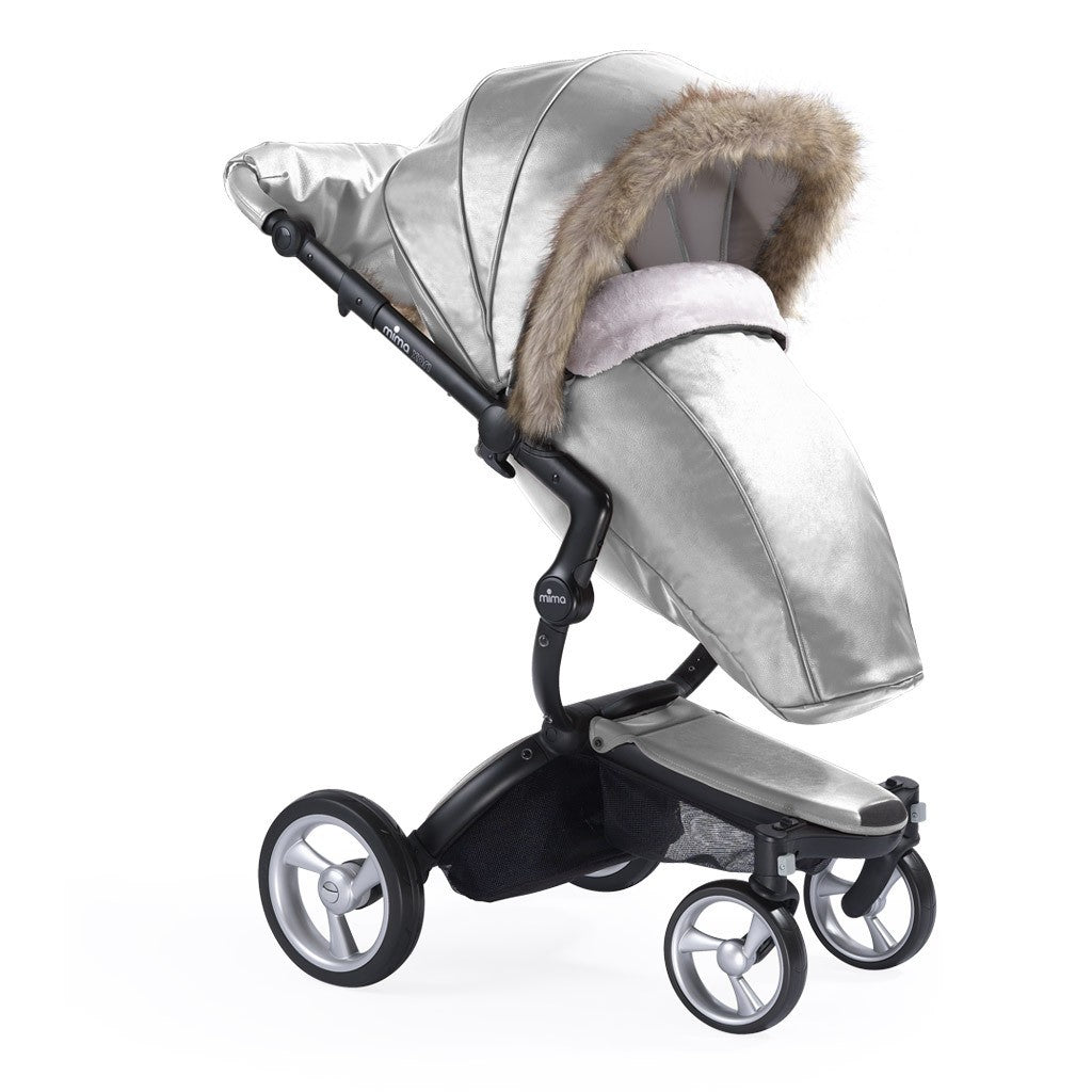 Mima Xari Stroller with Winter Outfit in Argento