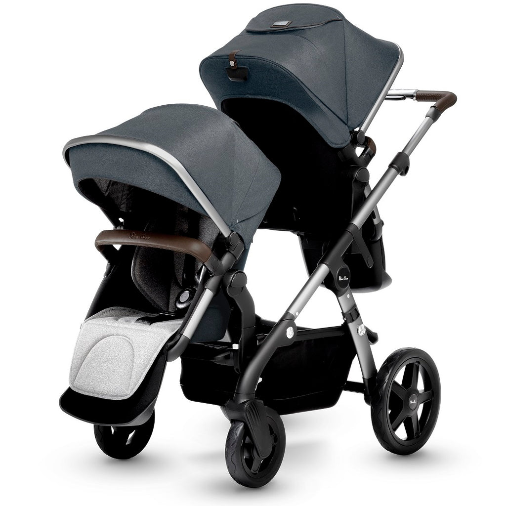 Silver Cross Wave Stroller with Tandem Seat in Slate