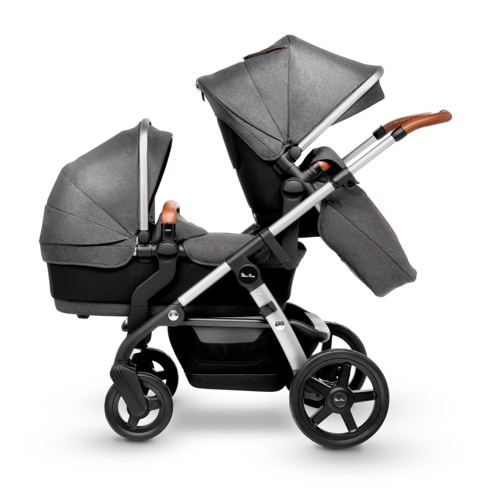 Silver Cross Wave Stroller with Tandem Seat in Granite