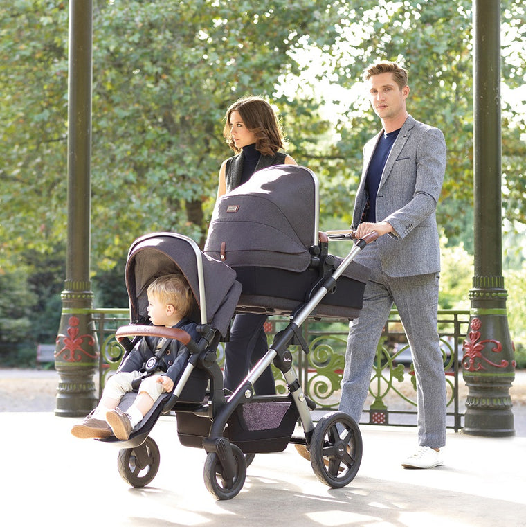 Family outing with the Silver Cross Wave Stroller in Sable