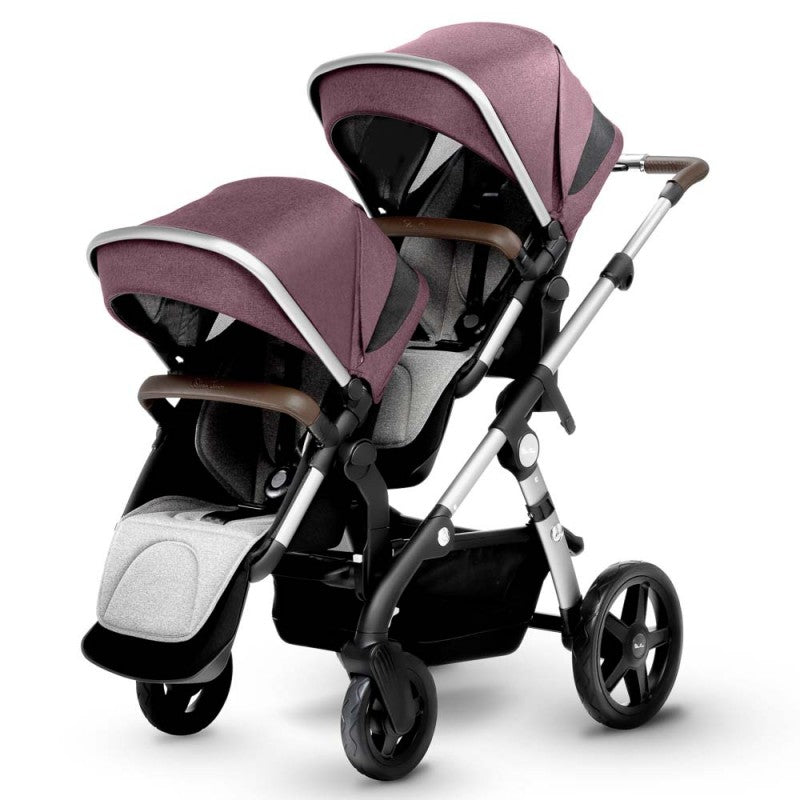 Silver Cross Wave Double Stroller in Claret