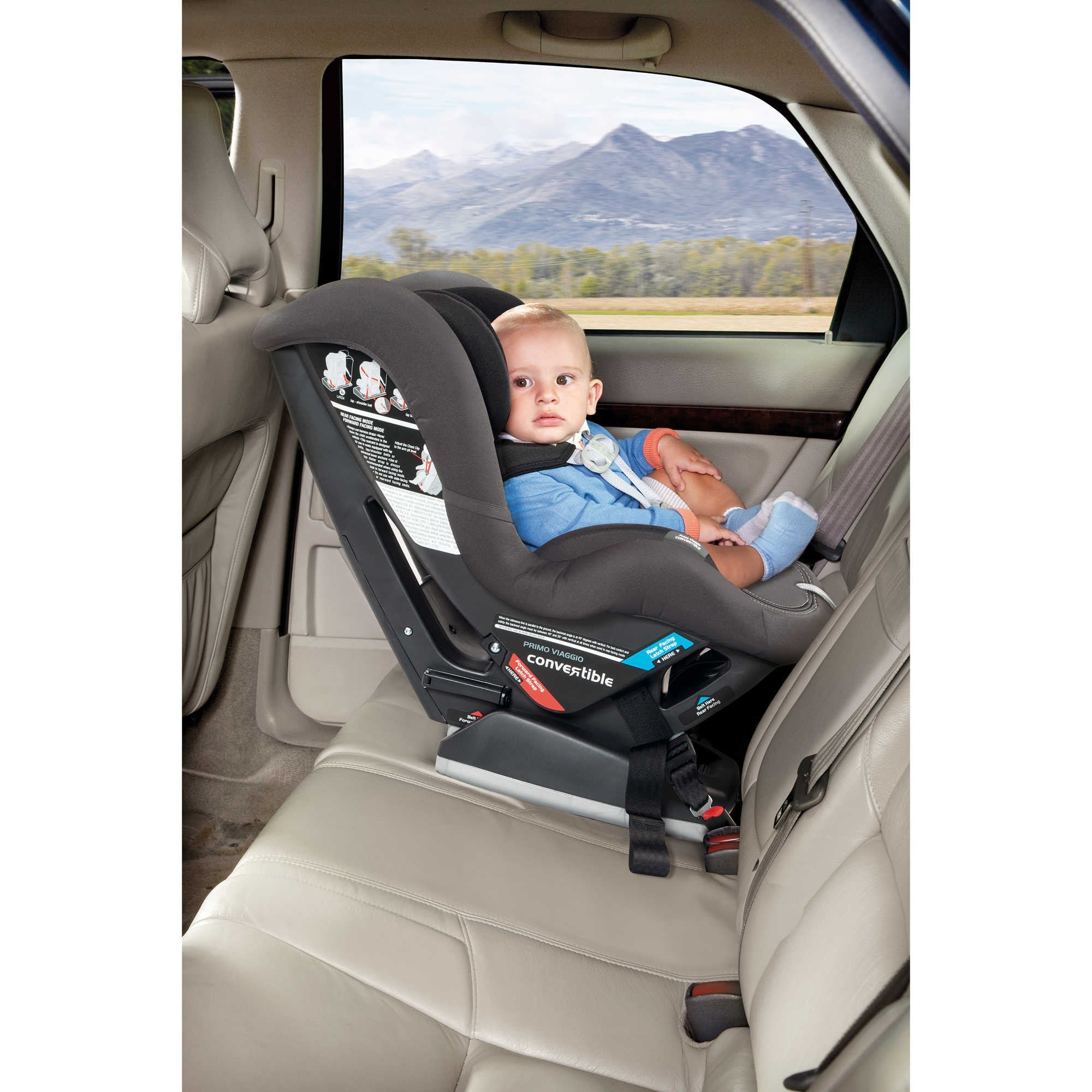 peg perego viaggio eco leather convertible car seat little folks nyc. Black Bedroom Furniture Sets. Home Design Ideas