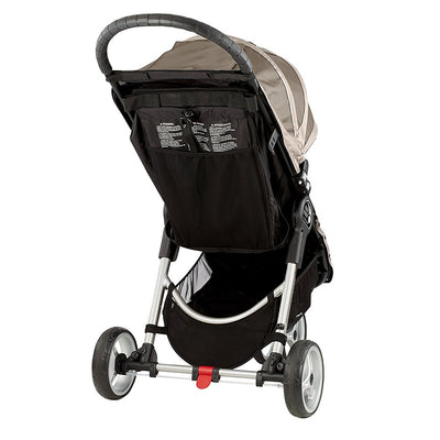 Baby Jogger City Mini® Stroller in Sand/Stone back view