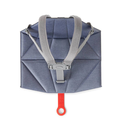 Bombol Pop-Up™ Booster & Carry Bag/Seat Cover in Denim Blue folded