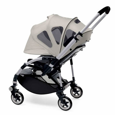 Bugaboo Bee⁵ Breezy Sun Canopy in Arctic Grey on Stroller Rolled Down