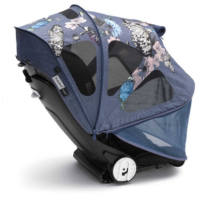 Bugaboo Bee⁵ Breezy Sun Canopy in Botanic rolled down