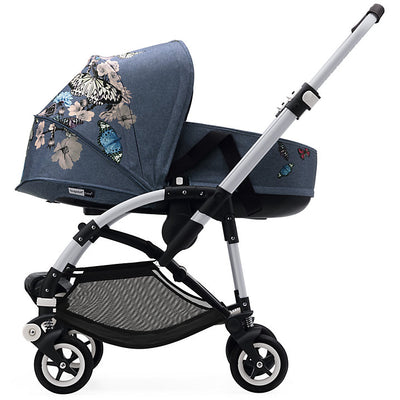Bugaboo Bee⁵ Bassinet in Botanic on Stroller